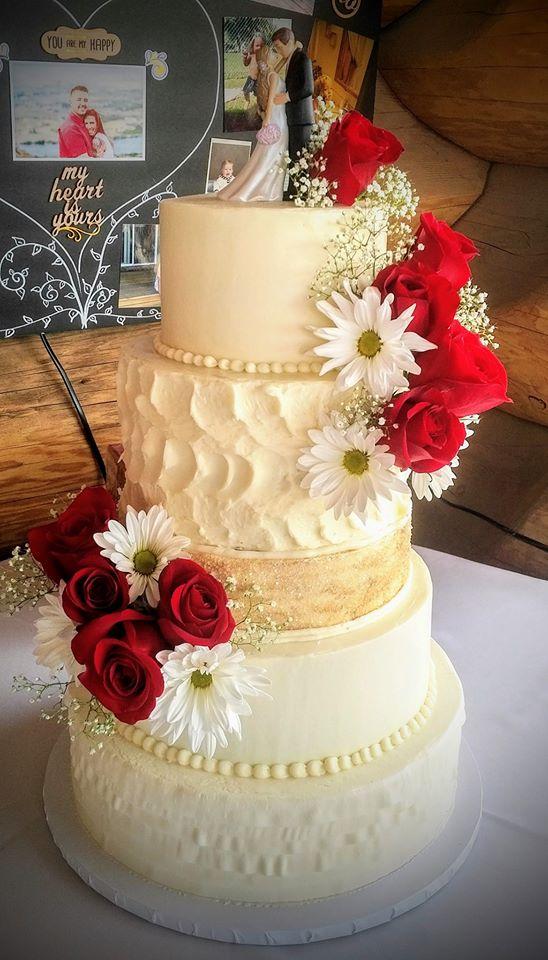 3 Tier Red Rose Wedding