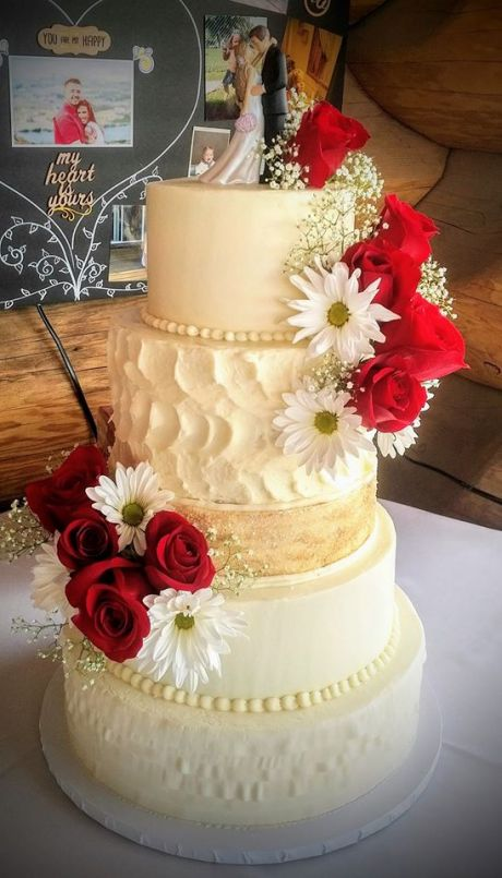 5 Tier Red Rose Wedding