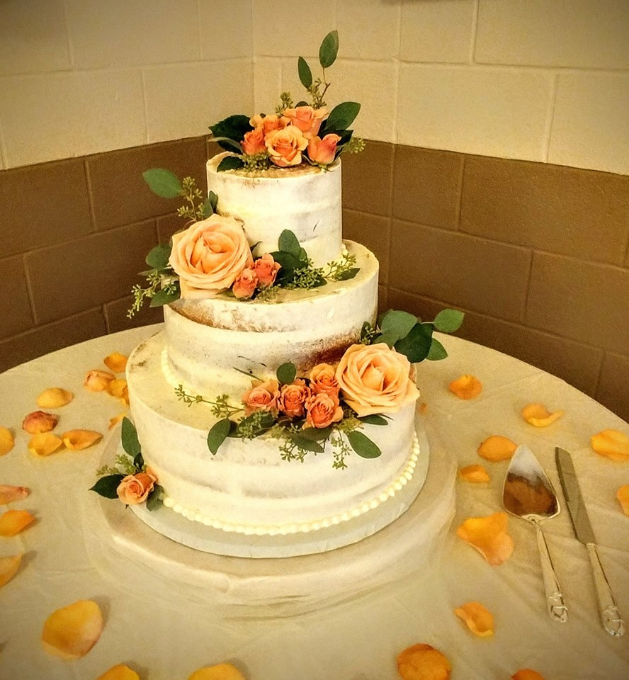 3 Tier Rose Wedding