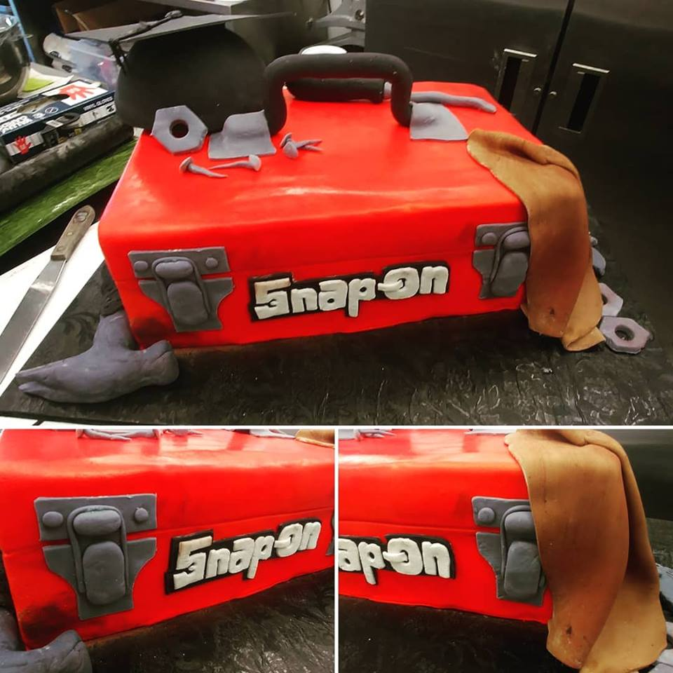 Snap On Tools Cake Collage