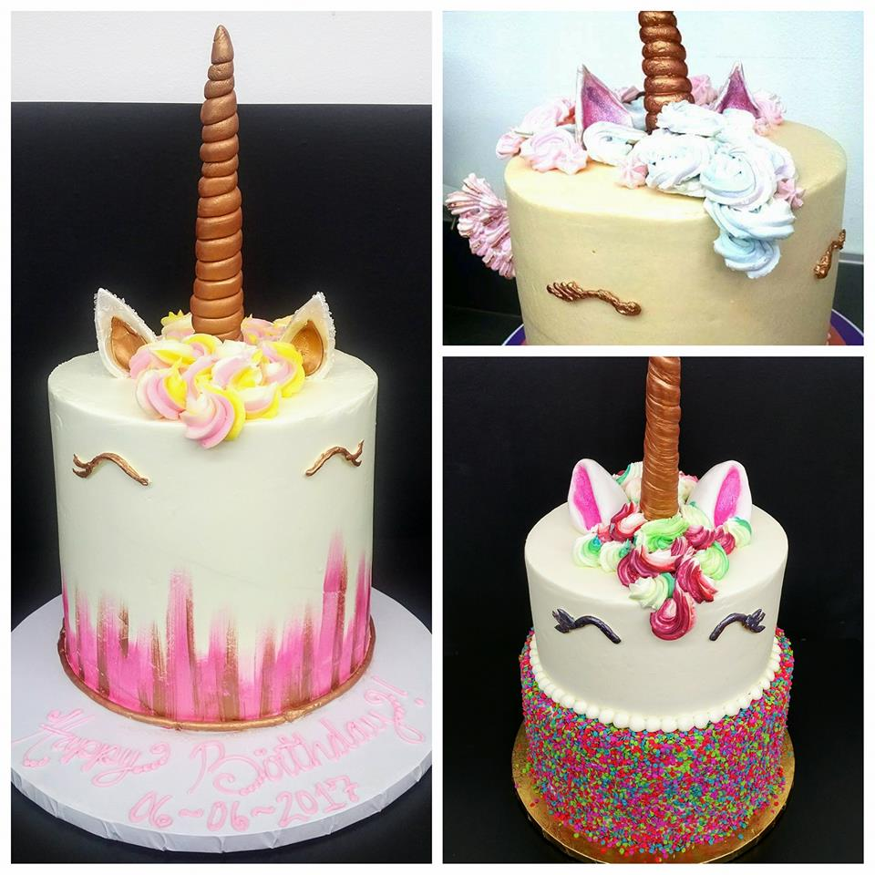 Unicorn Cake Collage